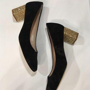 KATE spade ♠️ Serene Black glitter Heels 9 1/2m